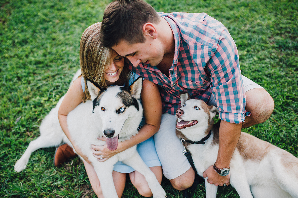 Husky Dogs with Engagement Session